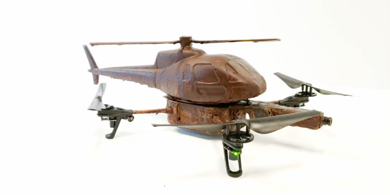 Article Image Gâterie technique: un drone au chocolat